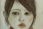 Namalovaná bhútánská holčička od kamarádky dle mé fotky nahoře