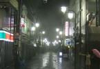 Noční Tokyo v dešti