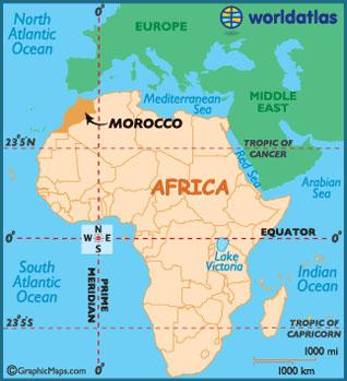 maroko mapa sveta Maroko – Chaotická a temperamentní severní Afrika | Milosh  maroko mapa sveta